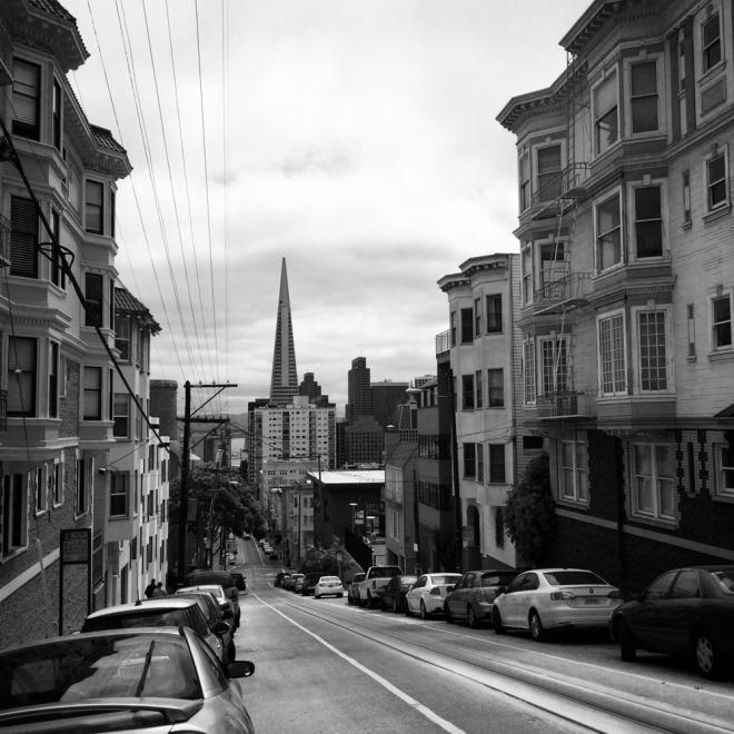 Street scene in Russian Hill/Nob Hill