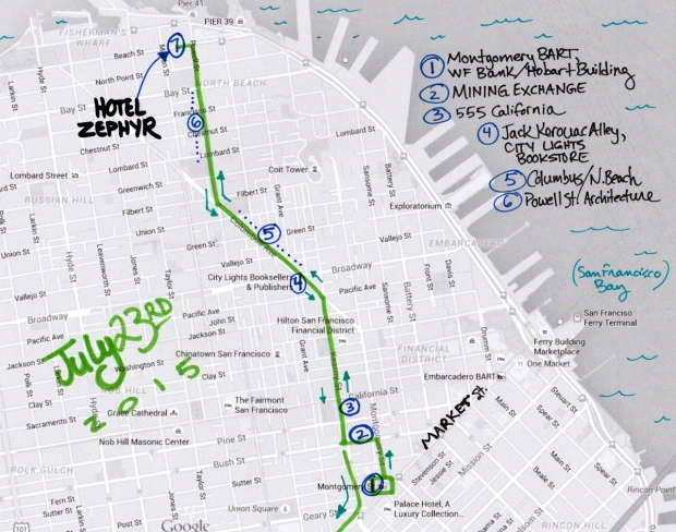 map of July 23 2015 walk