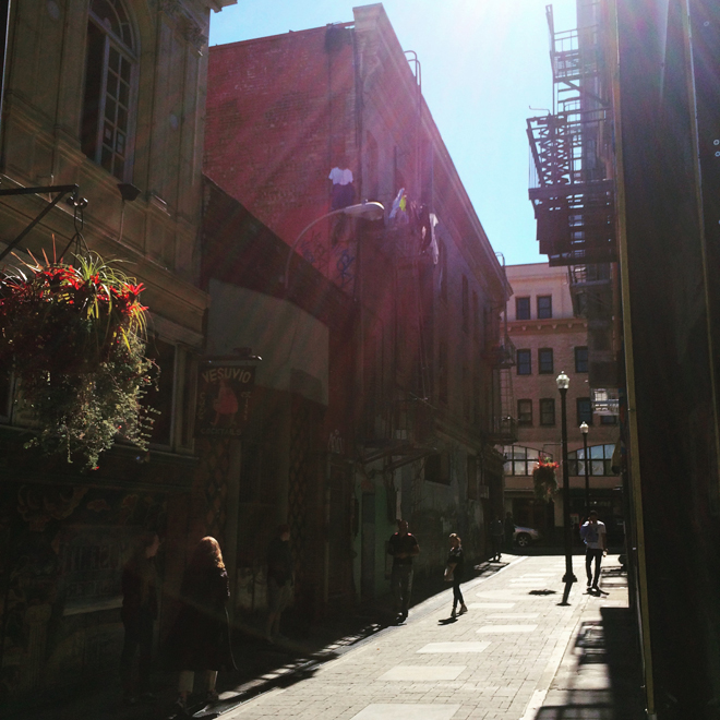 Jack Kerouac Alley in North Beach