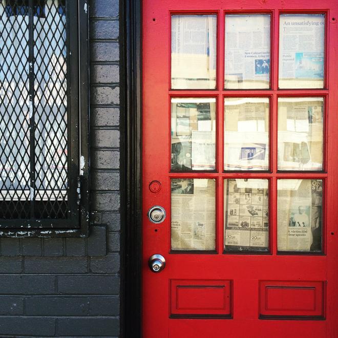 red door in North Beach