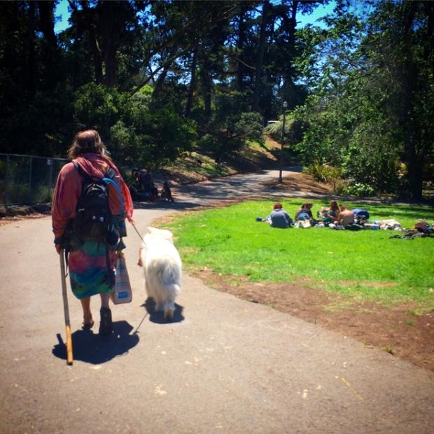 Man and man's best friend, Golden Gate Park