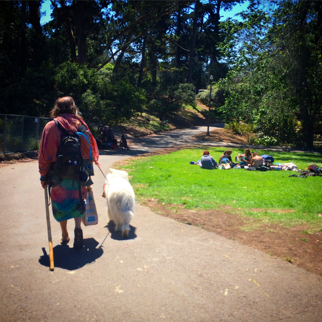 Man and man's best friend, Golden Gate Park