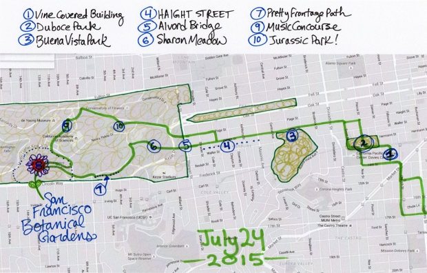 map of July 24 2015 walk