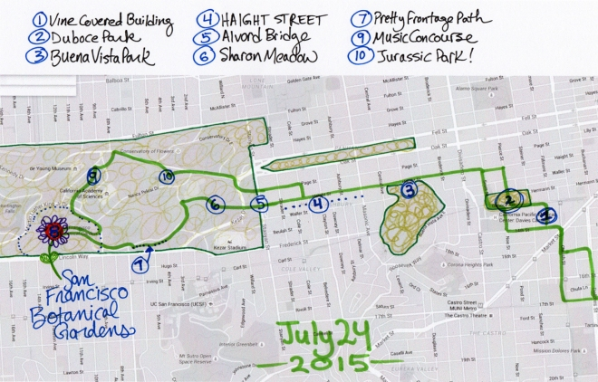 map of July 24 2015 walk