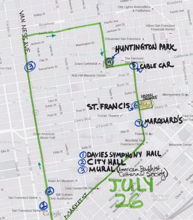 map of July 26 2015 walk