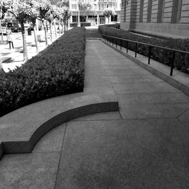 ramp leading from City Hall