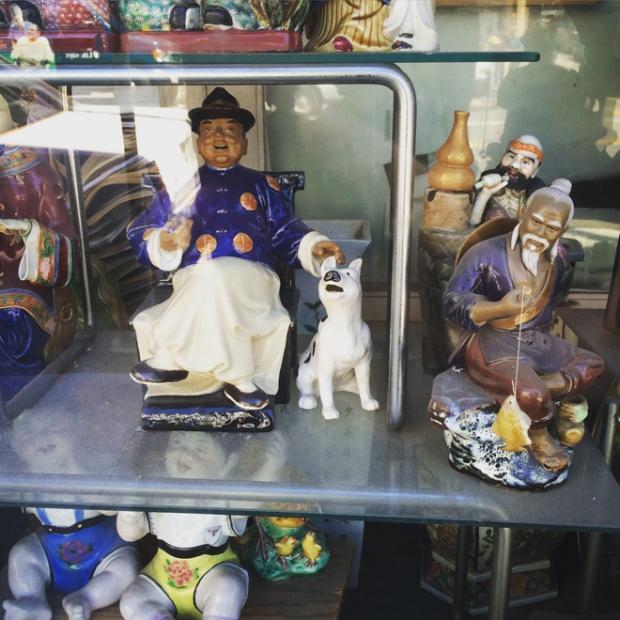 shop window in Chinatown
