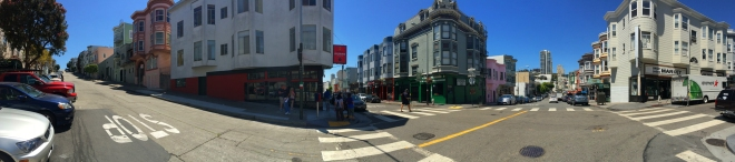 panorama of Grant Street in Chinatown