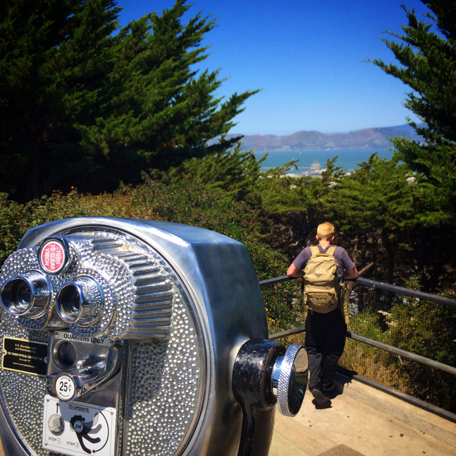 vintage binoculars at Coit Tower