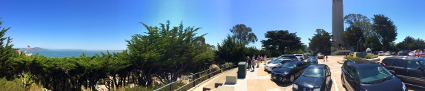 panorama of Telegraph Hill and Coit Tower
