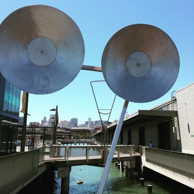 music makers at the Exploratorium Pier