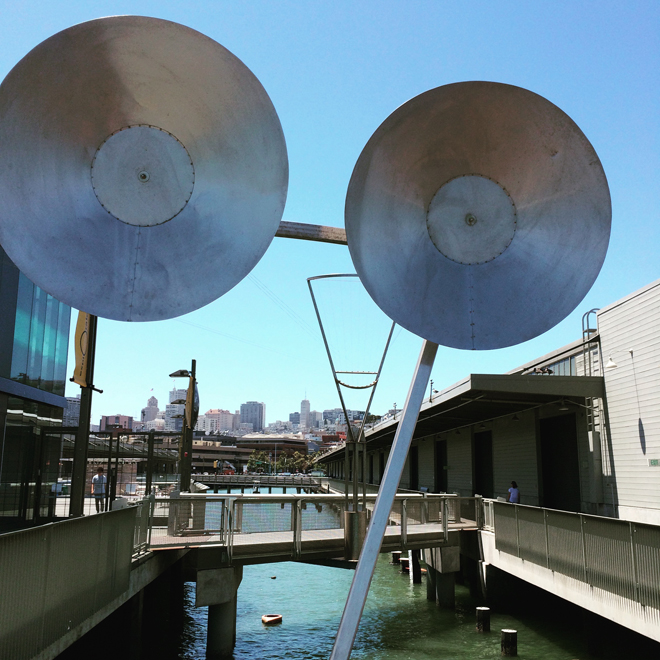 music makers at the Exploratorium Pier
