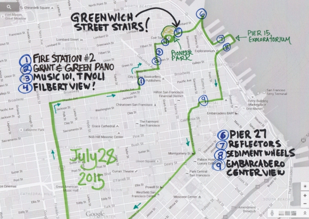 map of July 28 2015 walk