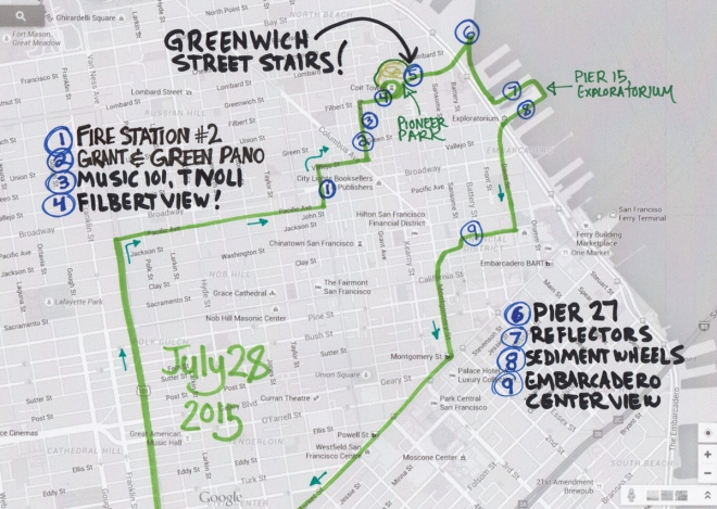 map of July 28 2015 walk