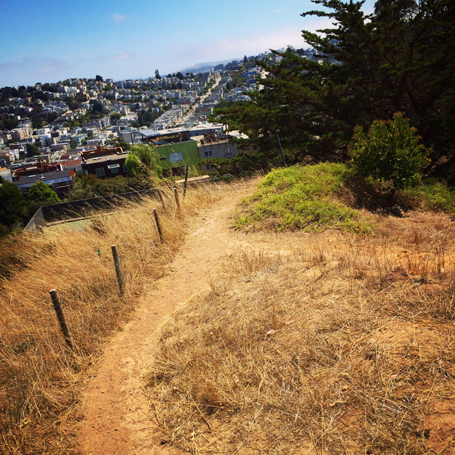Corona Heights park trail