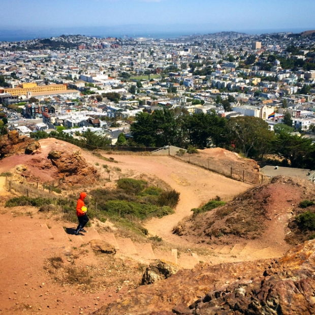view of San Francisco from Corona Heights