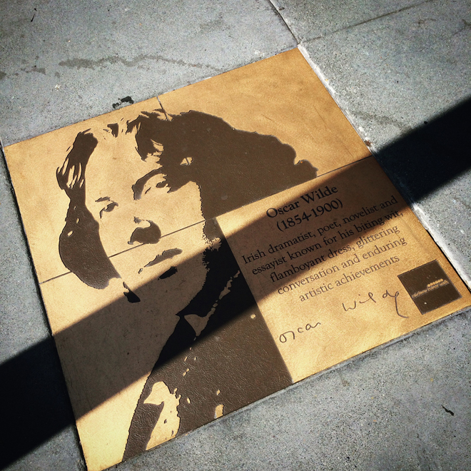 Oscar Wilde plaque in the Castro