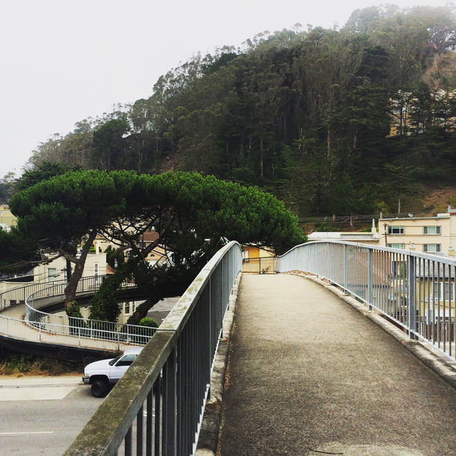 pedestrian footbridge over Portola Drive, San Francisco