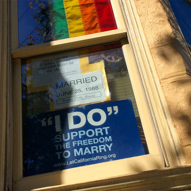 happy marriage equality signs in the Castro