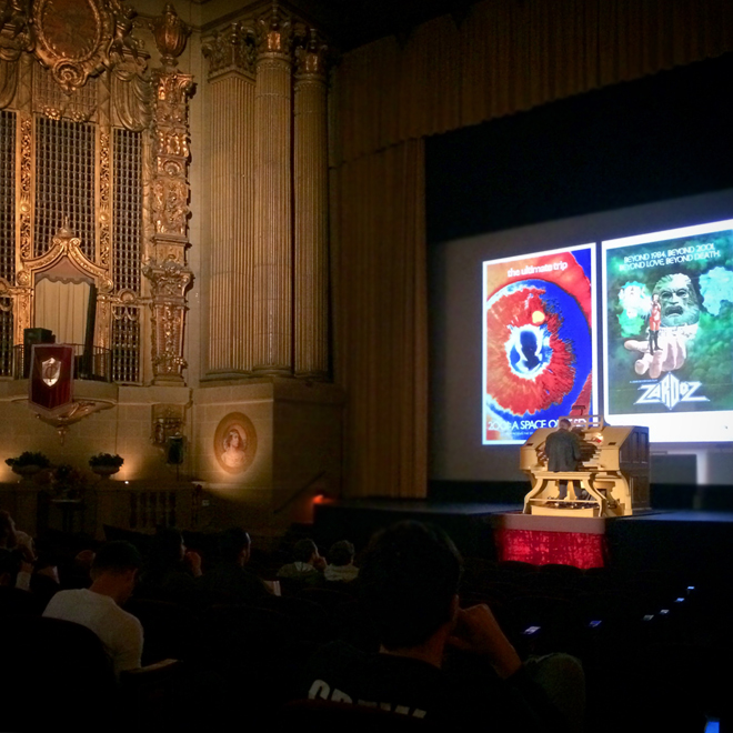the organ player at the Castro Theatre