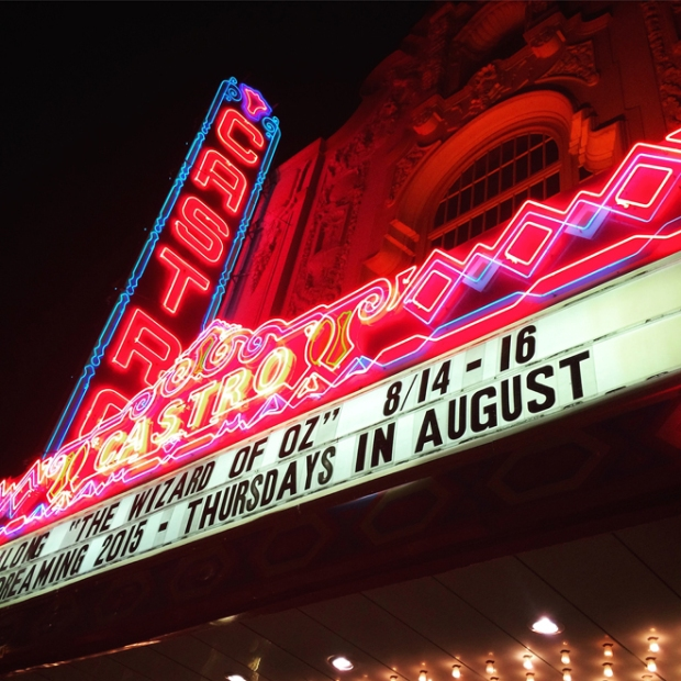 marquee at the Castro Theatre, night time
